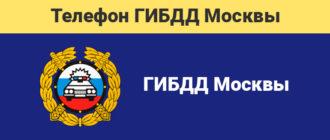 Бесплатный номер телефона горячей линии ГИБДД Москвы